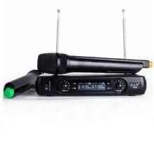 Ручной беспроводной микрофон караоке плеер Домашний караоке эхо микшер система цифровой звук аудио микшер пение машина V2