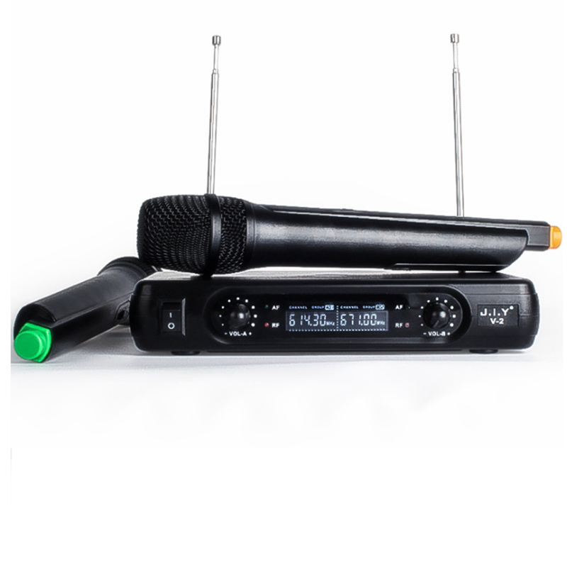 Handheld Sistema de Microfone Sem Fio do Karaoke Karaoke player Home Karaoke Eco Misturador Digital Sound Audio Mixer Máquina Cantando V2 +
