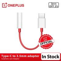Original Oneplus Kopfhörer Jack Adapter Typ-C Zu 3,5mm Kopfhörer Konverter Kabel Für OnePlus 6T 7 7Pro 7T 7T Pro 8 8Pro