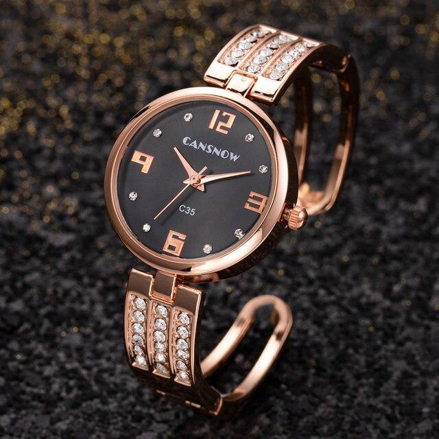 Luxury Bracelet Watch Crystal