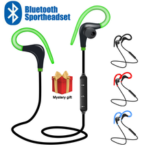 Спортивные Беспроводные Bluetooth наушники, стереонаушники, наушники вкладыши с крючком, наушники с микрофоном для телефона Samsung, LG, Xiaomi