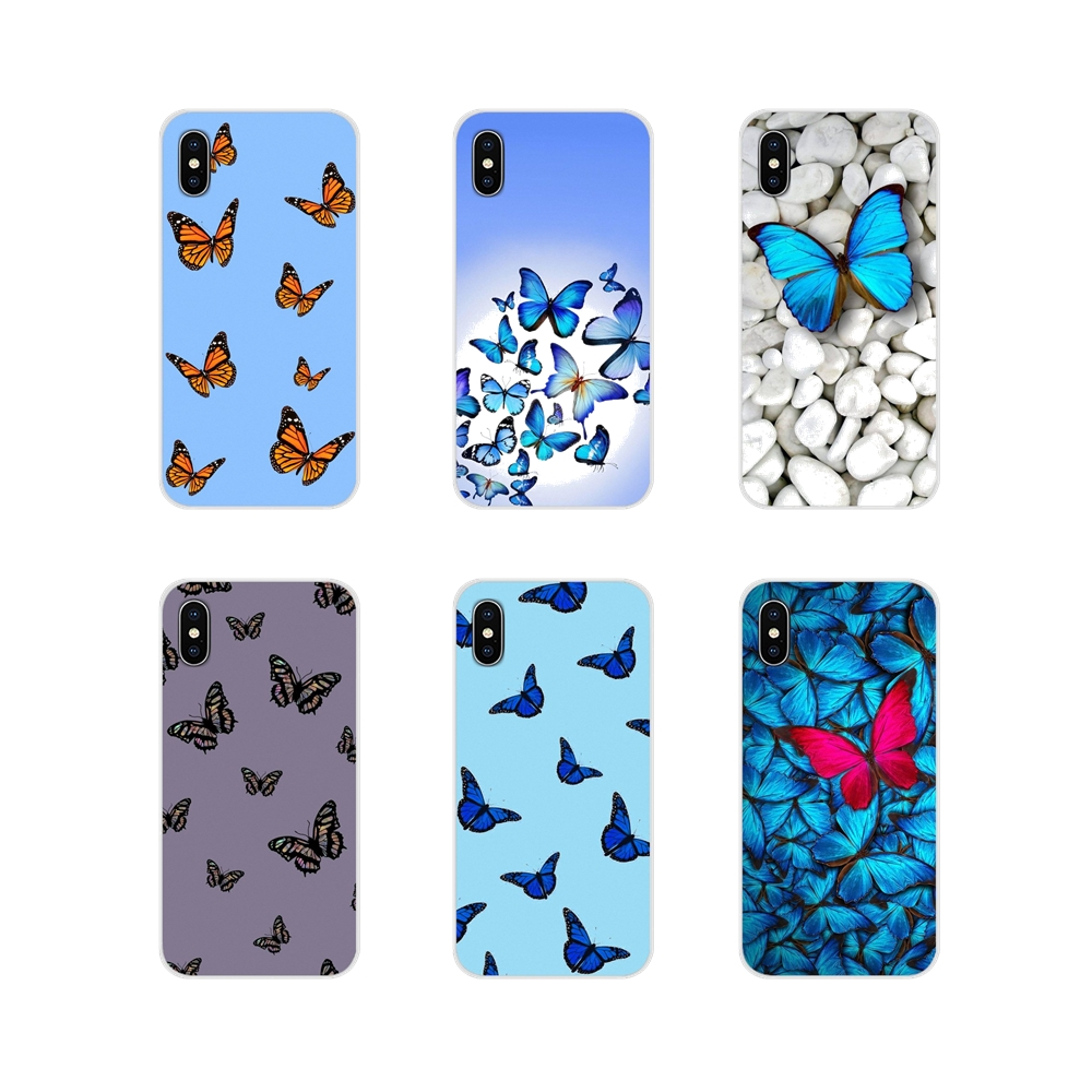 Blue Butterfly Accessories Phone <font><b>Cases</b></font> Covers For <font><b>Samsung</b></font> Galaxy J1 J2 J3 J4 J5 J6 <font><b>J7</b></font> J8 Plus 2018 Prime 2015 2016 <font><b>2017</b></font> image