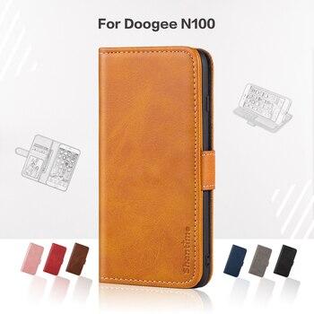 Перейти на Алиэкспресс и купить Чехол-книжка для Doogee N100, деловой чехол, роскошный кожаный чехол-кошелек с магнитом для Doogee N100, чехол для телефона