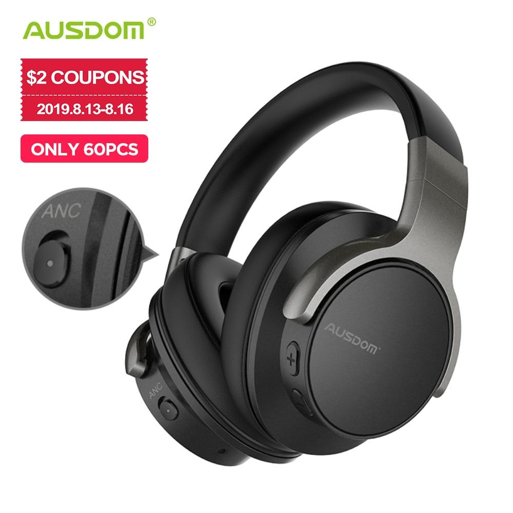 Ausdom ANC8 Active Noise Cancelling Wireless Headphones Bluetooth Headset with Super HiFi Deep Bass 20H Playtime for Travel Work casti wireless pentru televizor