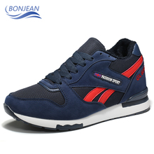 BONJEAN Comfortable Warm Running Sneakers Winter High Quatily Casual Sports Shoes Jogging trainers Footwear