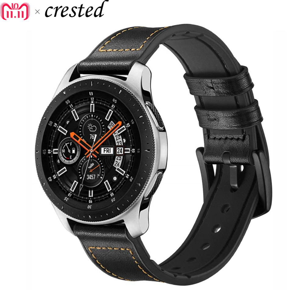 Gear S3 Frontier Band For Samsung Galaxy Watch 46mm Strap 22mm Leather Bracelet Huawei Watch GT Amazfit Stratos 2/Pace  S 3  46