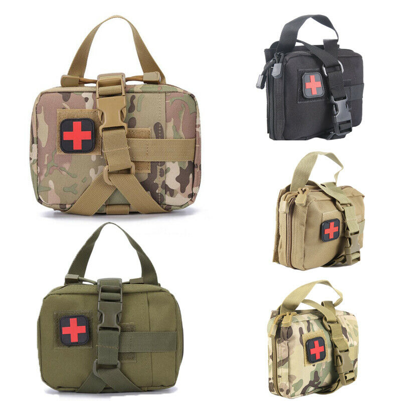 First Aid Kit Tactical Medical Bag Outdoor Emergency Survival Pouch Empty Portable Travel Camping Survival Medical Bags