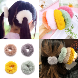 1Pc Random color Scrunchies For Women Girls Candy Scrunchies Set Hair Ties Rope Ponytail Hair Accessories Hairbands Gifts