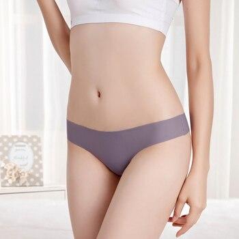 Ice Silk Thong Panties Sexy Briefs Seamless Thongs 1