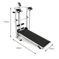 Mini Walking Machine Multifunctional Home Fitness Equipment Indoor Treadmill Folding Running Machine Mechanical Treadmill HWC
