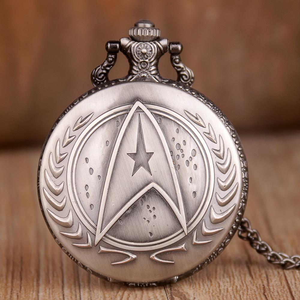 Hot Selling Men Quartz Watches Necklace Vintage Grey Design Antiuqe Necklace Fob Chain Clock Relogio Gift Pocket Watch For Men