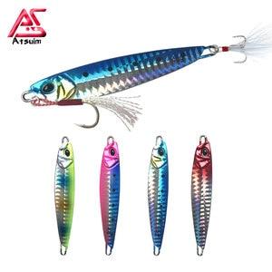 Как металлический джиг, приманка для рыбалки, медленная литая ложка для джиггинга 30 г 40 г 60 г 80 г, искусственная металлическая приманка для м...