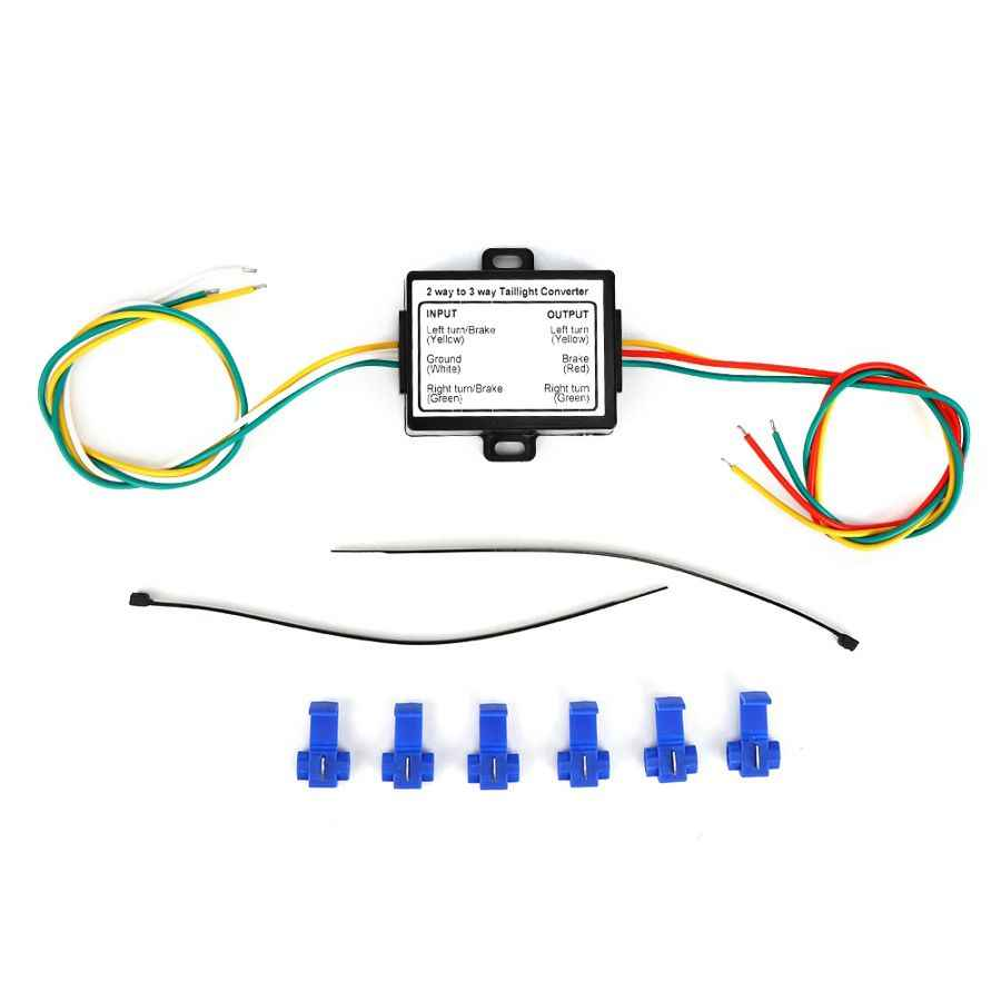 Mictuning Powered 3 To 2 Wire Trailer Tail Light Converter For 12v Vehicle With Color Coded Wiring Harness Aliexpress
