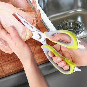 Multi-Function Kitchen Scissors Cutter Knife Board Stainless Steel Kitchen Cut Chicken Bones Food Meat Scissors