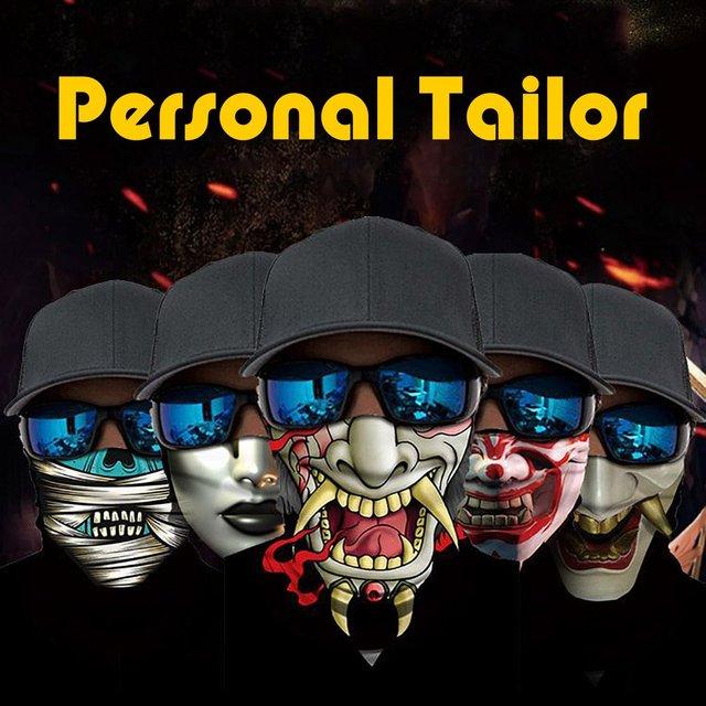 3D printing skull digital printing seamless amazing sports riding sunscreen hood mask bib mask sweat band 2