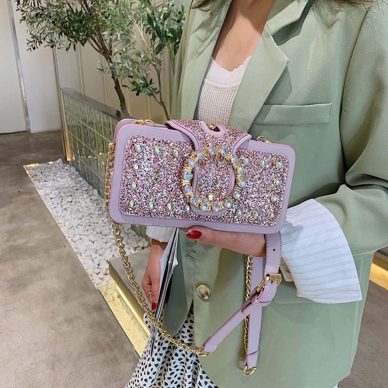 In summer, the new small bag girl 2019 new Chaohan version hundred lap oblique satchel girl chain sequel bag single shoulder bag
