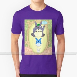 Camiseta de verão em torno do pescoço em torno do pescoço t camisas totoro ghibli anime bonito pastel sprite