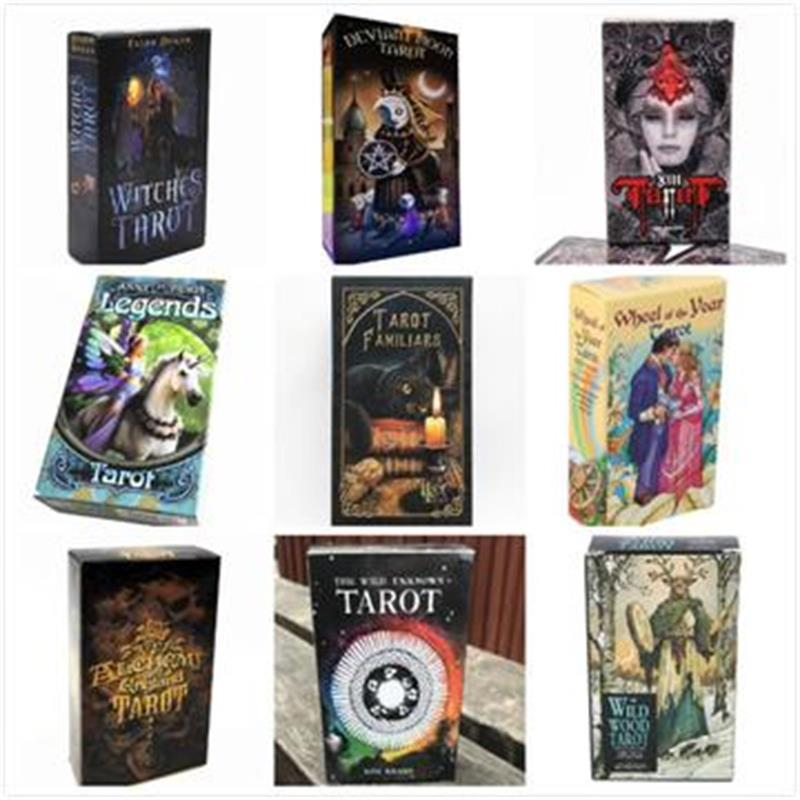 78 Cards English Spanish Tarot Cards Deck Playing Card Board Game England Tarot With Colorful Box Table Cards Family Gift
