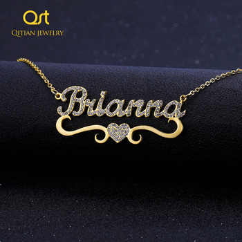 Heart With Personalized Name Necklace&Pendant