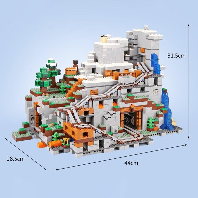 Моя всемирно известная архитектура, Железный голем, горные пещеры, строительные блоки, совместимые с legoingLYs 21137, рождественские детские игрушки для малышей - 5