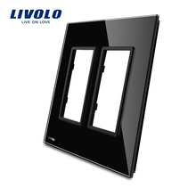 Livolo US standard Luxury Glass,125mm,Black Glass Panel ,not the switch,all panel for socket switches,No Switch Function!