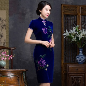 Image 2 - Quinceanera Ball Gown Spring New Nail Bead Hand painted Short Cheongsam Sleeve Daily Fashion High end Improvement Slim Original
