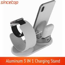 조정 가능한 책상 충전 전화 홀더 애플 시계 스탠드 테이블 충전 도킹 스테이션 자료 아이폰 8 충전기 지원