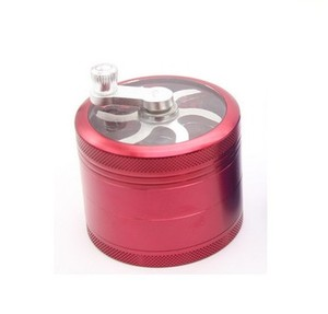 Image 3 - 4 Layers Tobacco Spice Grinder Herb Weed Grinder with Mill Handle Silver Kitchen Accessories Gadget Cooking Tools Hot Sale