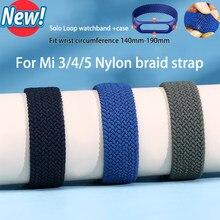Bracelet de montre en Nylon pour Xiaomi Mi Band 5, boucle tressée, Sport, Mi Band 4 3
