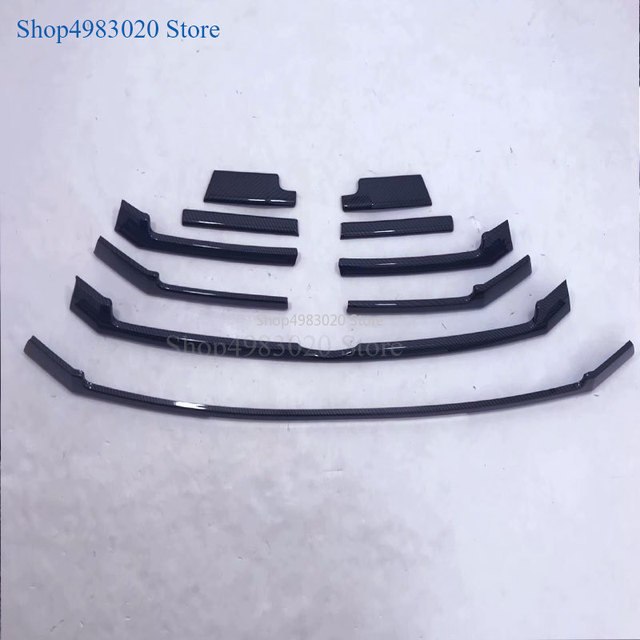 Car styling body cover ABS chrome racing engine trim Front bumper grid grill grille hoods part For Toyota Highlander 2018 2019 4