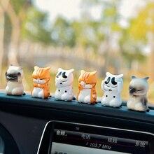 цена 9PCS Cute Cat Car Decoration Car Interior Console Decoration Kitty Doll Car Interior Decoration Accessories Auto онлайн в 2017 году