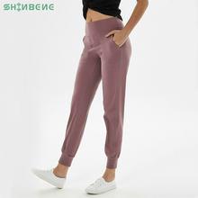 Shinbene Высокая Талия squatproof Фитнес тренировочные штаны