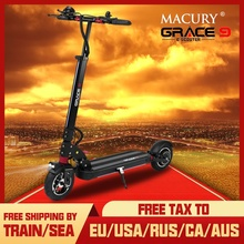 Macury patinete eléctrico GRACE9 GRACE & ZERO 9, aeropatín plegable de 2 ruedas, 8 pulgadas, para adultos, ZERO9, 8,5 pulgadas, ligero, Mini, plegable, T9, 9S, 48V