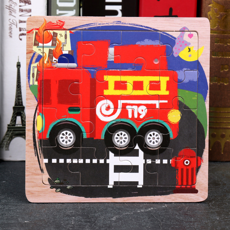 Wood Puzzles Children Adults Vehicle Puzzles Wooden Toys Learning Education Environmental Assemble Toy Educational Games 30