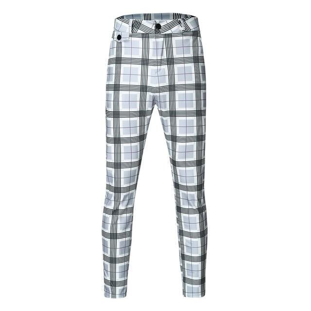 KANCOOLD Brand Pants Men Casual Elastic Long Trousers Male Cotton lattice straight gray Work Pant men's autumn Large size 107 3