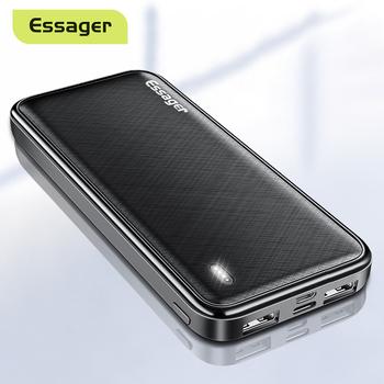 Essager 10000 mAh Power Bank przenośna ładowarka zewnętrzna ładowarka 10000 mAh Powerbank dla iPhone Xiaomi mi PoverBank tanie i dobre opinie Bateria litowo-polimerowa Wbudowane przewody podwójne USB CN (pochodzenie) Micro Usb USB typu C Z tworzywa sztucznego Przenośny power bank