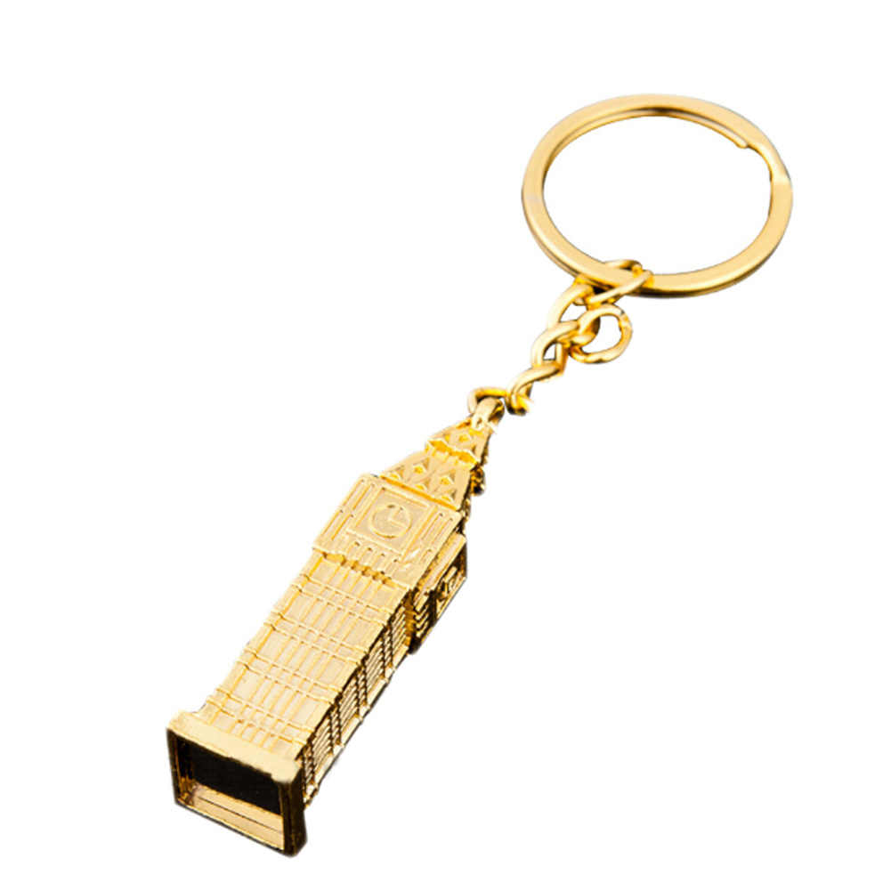 Londyn Big B * en Model mały brelok pamiątkowy prezenty 3D wisiorek z zegarem DIY biżuteria brelok do kluczyków do samochodu uchwyt pierścieniowy dla mężcz...