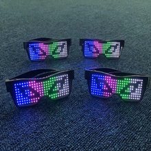 Oculos Led Bluetooth Magic Glass Led Party Flashing Glasses Neon Party Bar Decoration 2020 New(China)