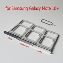 Adaptateur pour carte Sim support pour samsung Note10 + N975 N975F Galaxy Note 10 + Plus boîtier de téléphone dorigine