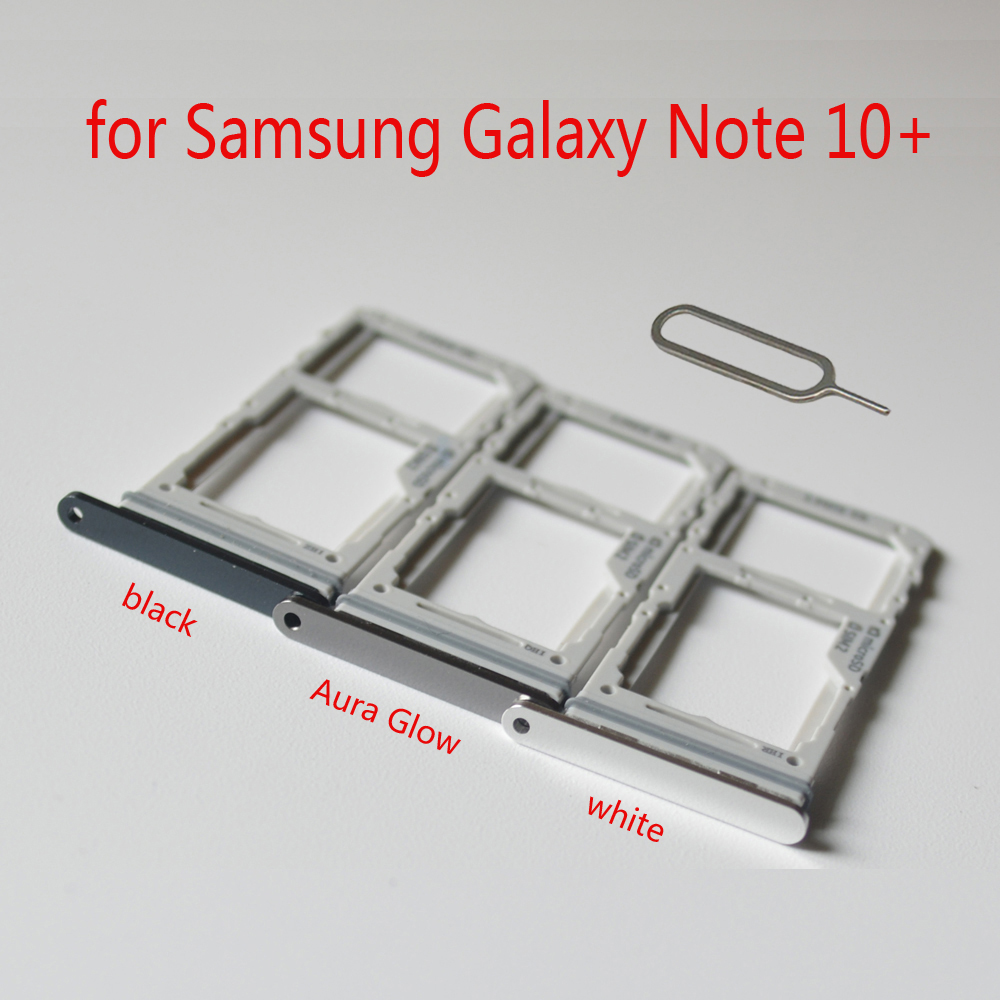 Sim Tray SD Card Holder For Samsung Note10+ N975 N975F Galaxy Note 10 + Plus Original Phone Housing SIM SD Card Adapter Slot