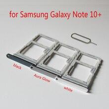 ה sim כרטיס מתאם מחזיק עבור Samsung Note10 + N975 N975F גלקסי הערה 10 + בתוספת המקורי טלפון שיכון SIM מיקרו SD כרטיס מגש חריץ