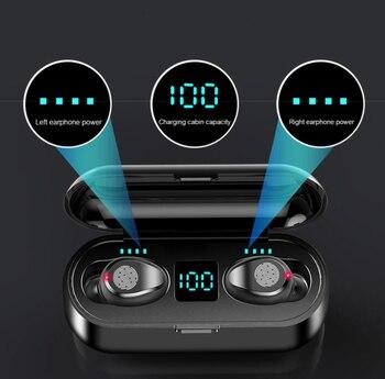Новые беспроводные наушники F9, Bluetooth 5,0, наушники с зарядным устройством, Спортивная