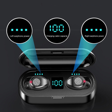 New F9 Wireless Headphones Bluetooth 5.0 Earphone with Headphones Charge Box Sports Headset Ear Buds with Dual Microphone