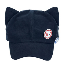 Anime Evangelion Eva Asuka Risoli Cosplay Cat Ear Cap Cap and Badge Cute Cap