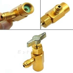 1 шт. хладагент бутылка кран 1/4 SAE M14 R-134a Резьбовой Адаптер открывалка клапан для кухонных принадлежностей