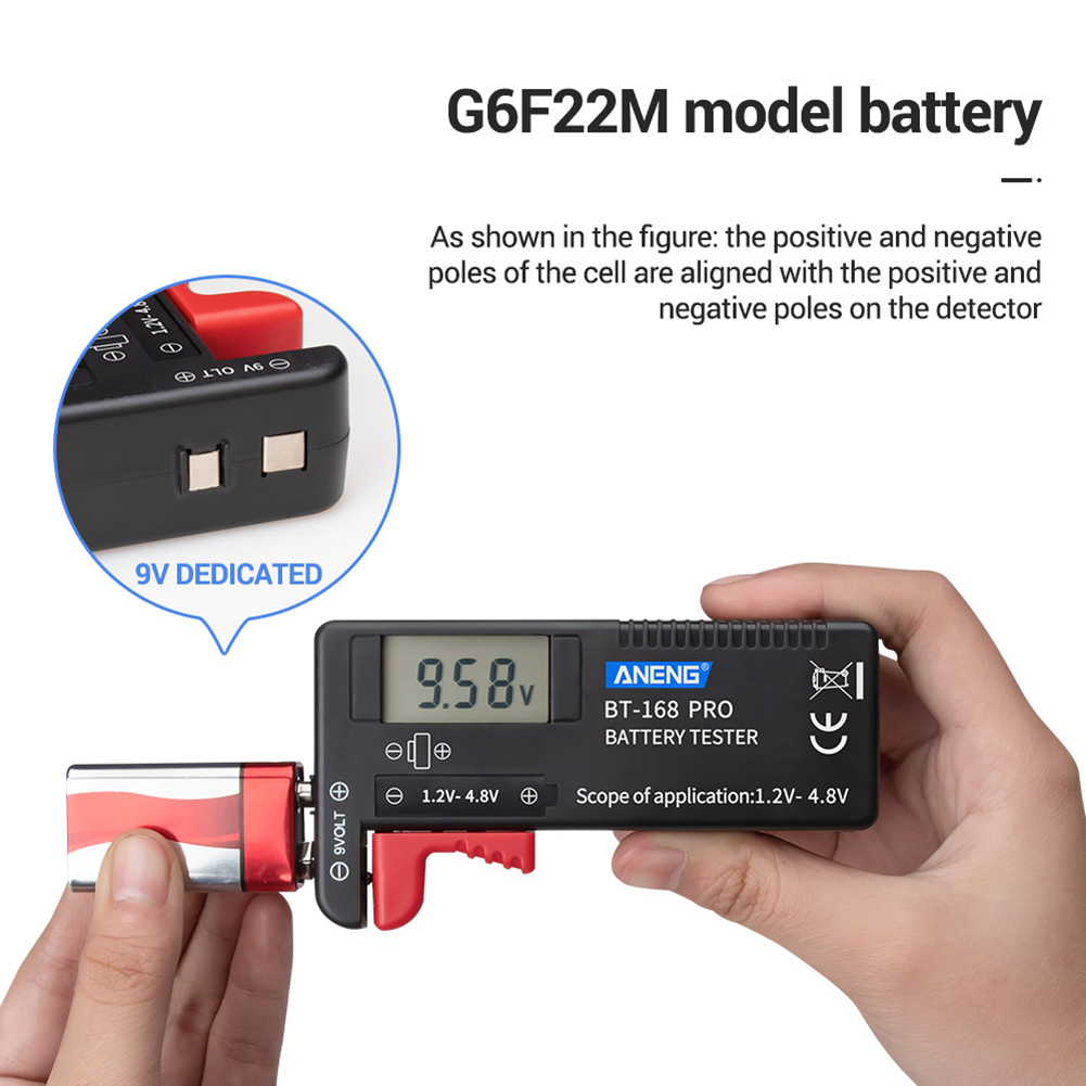 ANENG Digital Battery Tester <font><b>BT</b></font>-<font><b>168</b></font> PRO 1.2V-4.8V AAA AA Button Cell Checker for Household Battery Testing Decoration image