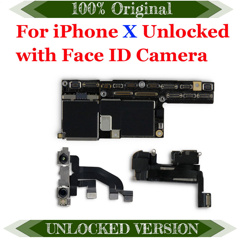Factory unlocked for iphone X motherboard without with Face ID,Free iCloud for iphone x Mainboard with IOS System Logic board|Mobile Phone Antenna|   - AliExpress