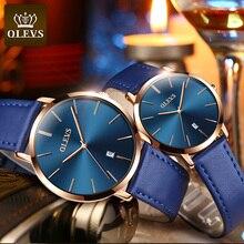 Fashion Couple Watches OLEVS Popular Casual Quartz Women Men Watch