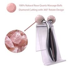 Jade-Roller Massage-Stone Rose-Quartz-Balls Face-Lifting Facial Skin-Tightening Firming