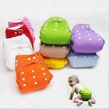 A Разноцветный 1 PCS +Регулируемый Многоразовый Ребенок Младенец Ткань Подгузники Мягкие Чехлы Мальчики Девочки Моющиеся Регулируемые один размер Fraldas